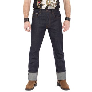 King Kerosin Jeans Trousers - Authentic Selvedge Dark Blue