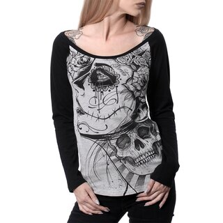 Hyraw Langarm Raglan Top - Skeleton