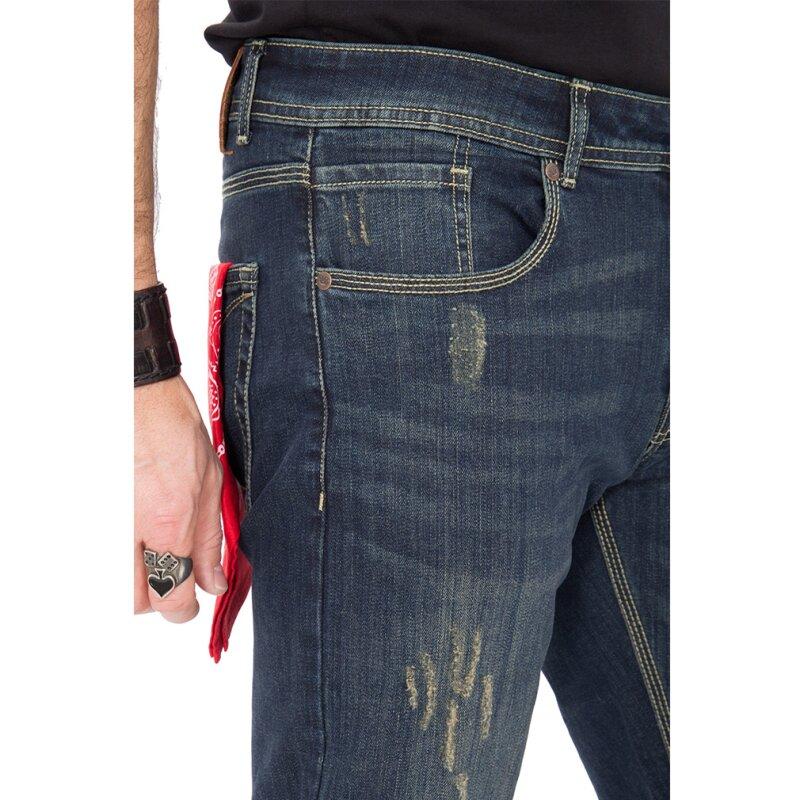 king kerosin jeans hose farmer destroyed coffee w34. Black Bedroom Furniture Sets. Home Design Ideas