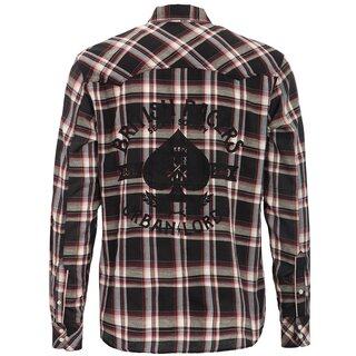 King Kerosin Longsleeve Plaid Shirt - Urban Lords Black