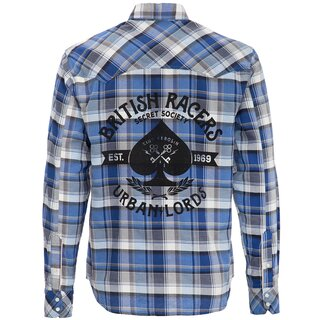 King Kerosin Longsleeve Plaid Shirt - Urban Lords Royal