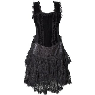 Burleska Corset Mini Dress - Sophia Velvet Black