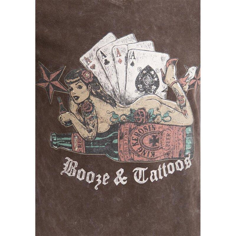 king kerosin vintage t shirt booze tattoos braun 29 9. Black Bedroom Furniture Sets. Home Design Ideas