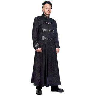 Black Pistol Mens Coat - Closure