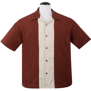 Steady Clothing Vintage Bowling Shirt - Big Daddy Rostbraun