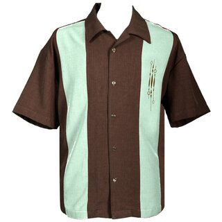 Steady Clothing Vintage Bowling Shirt - The Sammy Brown
