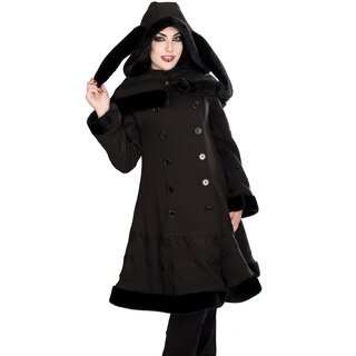 Black Pistol Coat with Shoulder Cape - Cape Coat