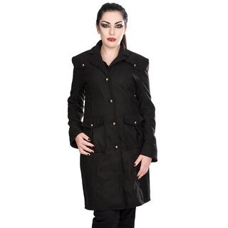 Black Pistol Ladies Coat - Moon Coat