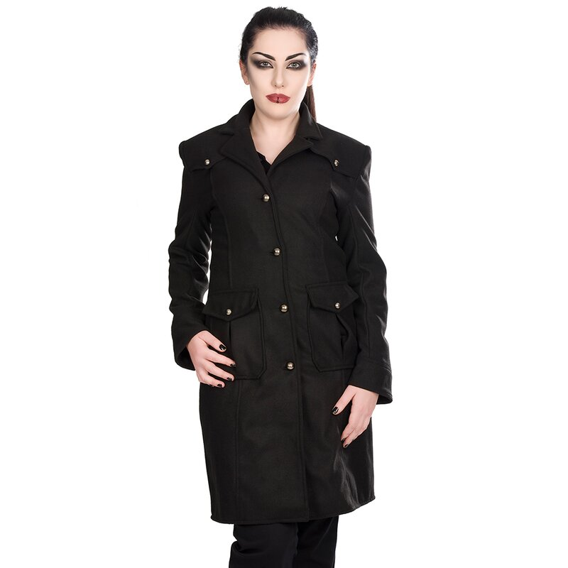 black pistol damen mantel moon coat xxl 119 90. Black Bedroom Furniture Sets. Home Design Ideas