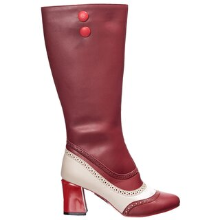 Dancing Days Vintage Stiefel - Say My Name Burgunder