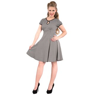 Steady Clothing Vintage Skater Kleid - Charm Me Houndstooth
