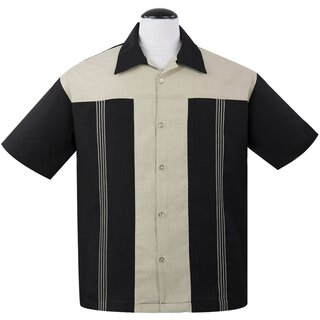 Steady Clothing Vintage Bowling Shirt - The Oswald Black