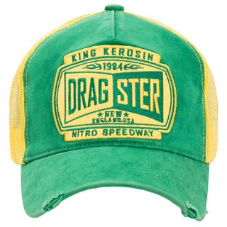 King Kerosin Trucker Cap - Dragster Gelb-Grün