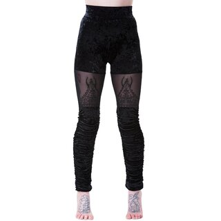 Killstar Velvet Leggings - Nightshade