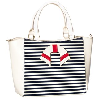 Dancing Days Tote Bag - Vintage Nautical White