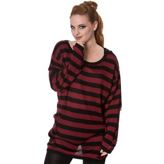 Banned Knit Jumper - Touch Break Top Red