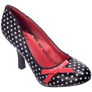 Dancing Days High Heel Pumps - String Of Pearl Black
