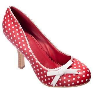Dancing Days High Heel Pumps - String Of Pearl Red