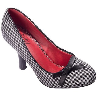 Dancing Days High Heel Pumps - String Of Pearl Houndstooth