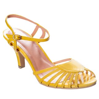 Dancing Days Strapped Heels - Amelia Yellow