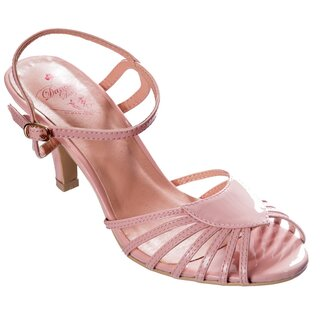 Dancing Days Strapped Heels - Amelia Pink