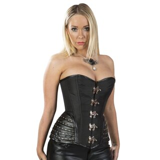Burleska Corset - Warrior Taffeta Black