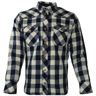 King Kerosin Biker Woodcutter Shirt - Speedshirt Air Navy