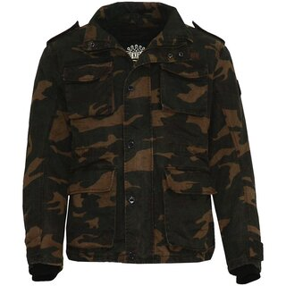 King Kerosin Biker Jacket - Speedwax Camouflage