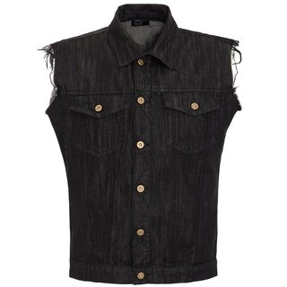 King Kerosin Denim Vest - Trouble Maker XXL