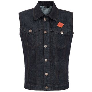 King Kerosin Denim Vest - Rinsed
