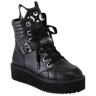 Killstar Plateauschuhe - Keiko Kitty High Top Sneakers
