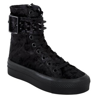 Killstar High Top Sneakers - Unholy Velvet