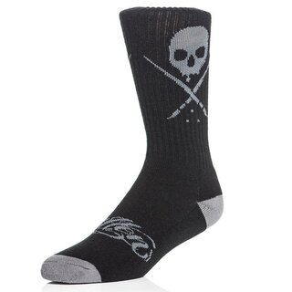 Sullen Clothing Socks - Standard Issue Crew Socks Black-Grey