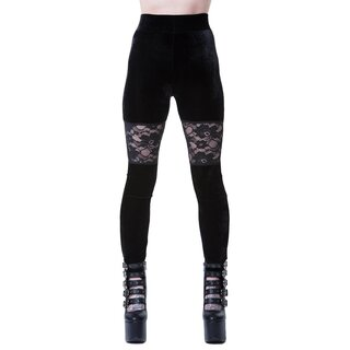 Killstar Velvet Leggings - Rose Merry