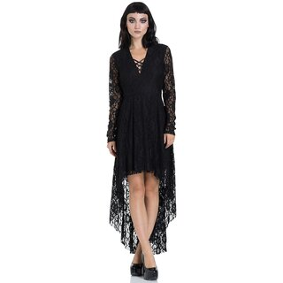 Jawbreaker High-Low Gothic Dress - Lace