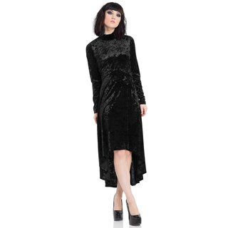 Jawbreaker High-Low Velvet Dress - Black Velvet