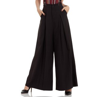 Voodoo Vixen Marlene Trousers - Shelley Black