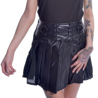 Chemical Black Mini Pleated Skirt - Siiri