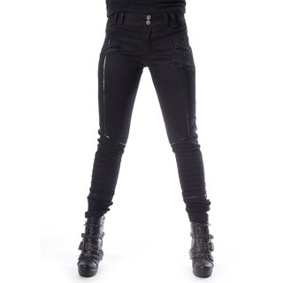 Chemical Black Ladies Gothic Trousers - Jenna XL