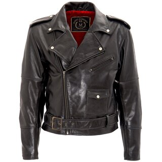 King Kerosin Biker Leather Jacket - The Wild One