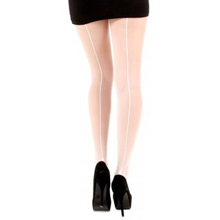 Pamela Mann Tights - Jive Seamed White