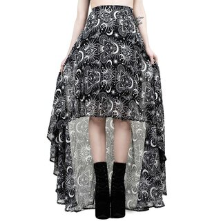 Killstar Chiffon Maxi Skirt - New Moon