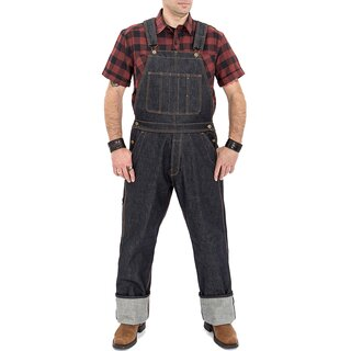 King Kerosin Denim Latzhose - Raw Wash Dungaree