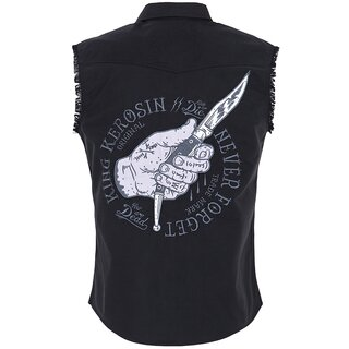 King Kerosin Sleeveless Worker Shirt - Never Forget