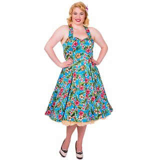 Dancing Days Neckholder Kleid - Blue Floral