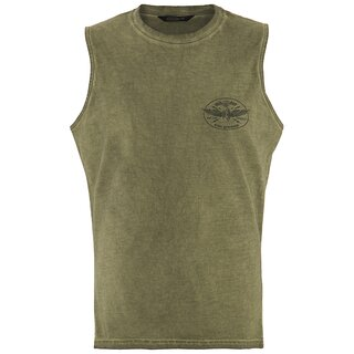 King Kerosin Tank Top - Thunder Olive Green