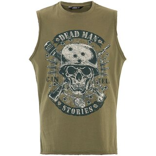 King Kerosin Tank Top - Dead Man Olive Green