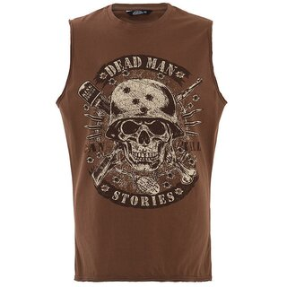 King Kerosin Tank Top - Dead Man Brown