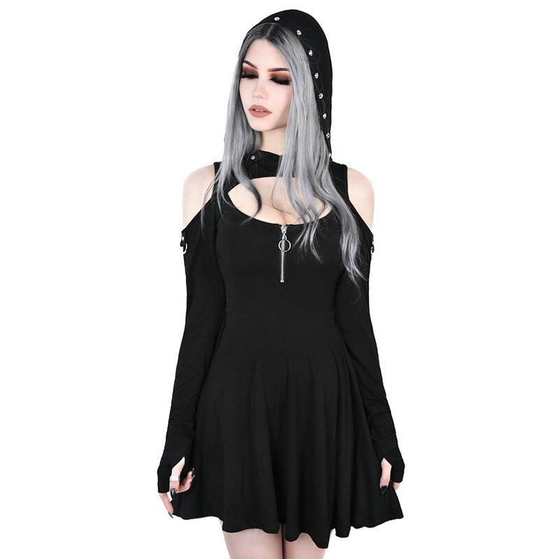 Killstar Mini Kapuzenkleid - Spirit Walker S
