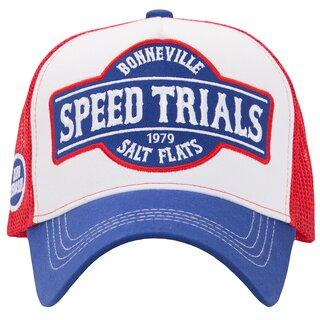 King Kerosin Trucker Cap - Speed Trials Blue-Red